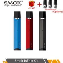 SMOK INFINIX pod vape Kit built-in 250mAh battery 2ml capacity SMOK Vape Pen Electronic Cigarette Vaporizer starter kit стоимость