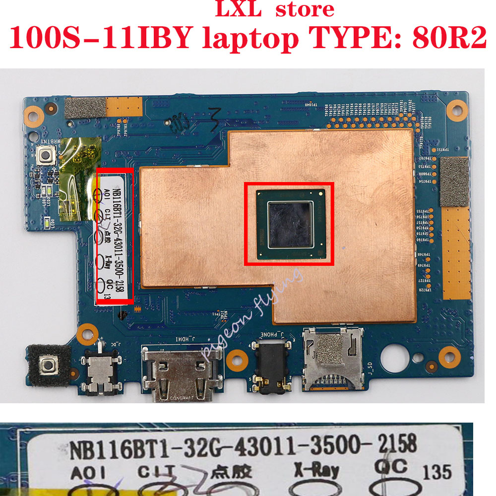 100S-11IBY Motherboard  Mainboard For Lenovo Ideapad Laptop 80R2 CPU: Z3735F RAM 2G  HD: 32G FRU 5B20K38932  100% Test OK