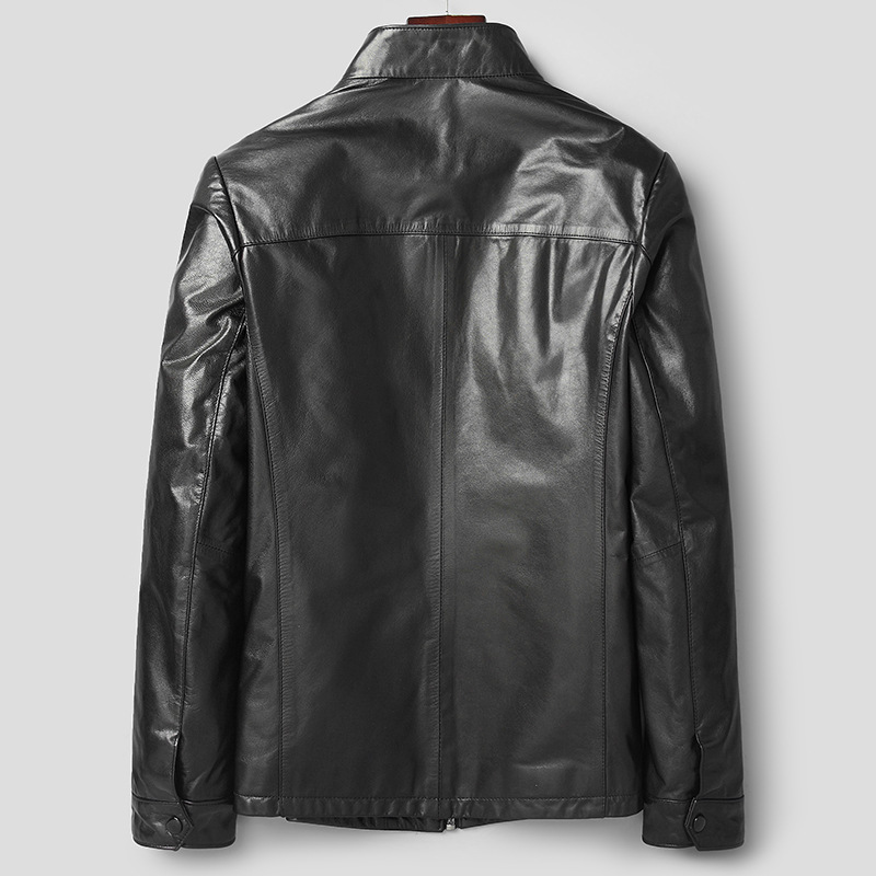 Men's Leather Jacket Real Sheepskin Leather Coat Motorcycle Genuine Leather Slim Jackets Men Fashion 81Y8258 YY258