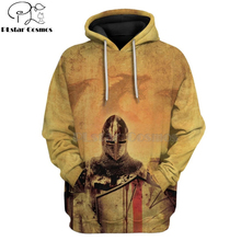 PLstar Cosmos Printed Knights Templar 3d hoodies/Sweatshirt Winter autumn funny Harajuku Long sleeve armor cosplay streetwear-44