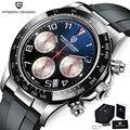 2021 Новый PAGANI DESIGN часы Для мужчин лучший бренд Автоматическая Дата наручные часы Силикагель Водонепроницаемый 100 м Daytona хронограф часы подар...