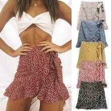Sexy Women Fashion High Waist Irregular ruffles Skirt for Women Broken Flower Ha