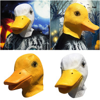 Creepy Rubber Animal Mask Latex Party Yellow Duck Animals Mask Adult Cosplay Party Halloween Masquerade Funcy Dress Supplies