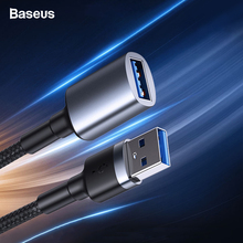 Baseus USB To USB Male to Male Extension Cable Male To Female USB to Micro B 3.0 Cable 5Gbps 2A Fast Data Sync Cord For Smart TV стоимость