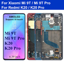 6.39 Original AMOLED For Xiaomi Mi 9T Pro Mi 9T LCD Screen Display Frame+Touch Panel Digitizier for Redmi K20 K20 Pro lcd 10piece lot for xiaomi redmi k20 k20 pro case flip leather cases for xiaomi mi 9t mi 9t pro stand case pu leather cover