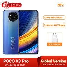 POCO X3 Pro глобальная версия Snapdragon 860 смартфон 8 Гб 256 120 Гц DotDisplay 5160 мА/ч, 33 Вт NFC четырехъядерный AI Камера в наличии