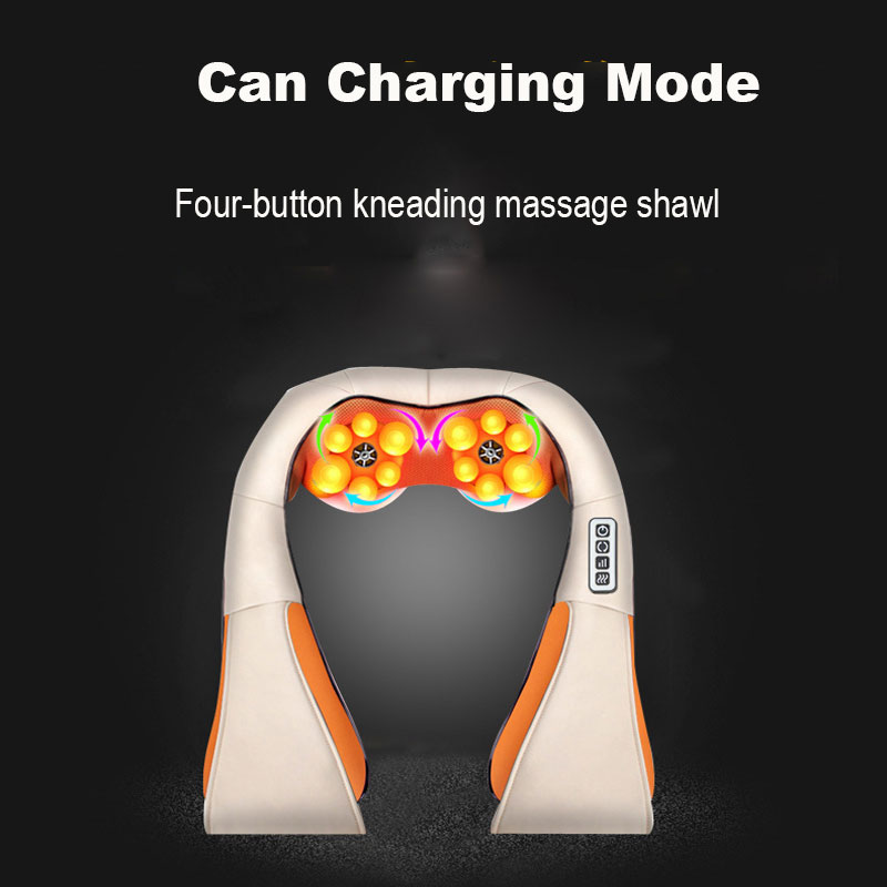 Charging Kneading Massage Heating Massage Shawl Kneading Massage Finger Pressure Warm Multi-Function Car Home Cervical Massager