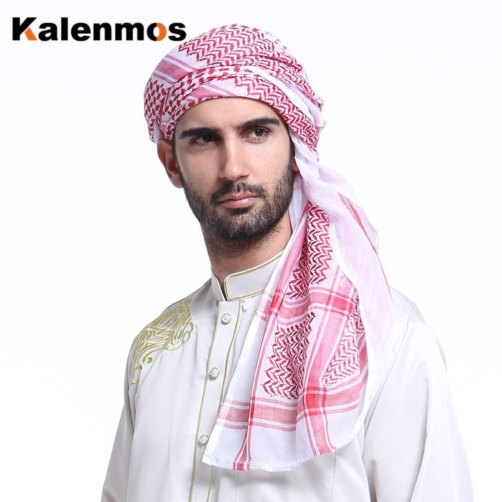 Мусульманский хиджаб, шарф, Мужской многофункциональный головной платок, бандана, мусульманская Военная Регулируемая клетчатая шаль Keffiyeh