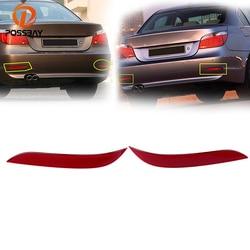 POSSBAY reflektor tylnego zderzaka naklejki do BMW E60 2003 2004 2005 2006 2007 wstępnie facelift czerwone światło ostrzegawcze bez żarówek