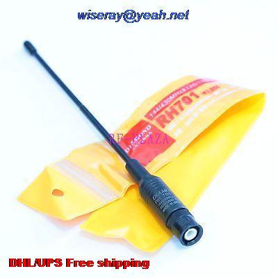 Tüketici Elektroniği'ten Pil Aksesuarları ve Şarj Aksesuarları'de DHL/EMS 50 adet Anten RH701 çift bant 144/430MHZ için BNC erkek Radyo YAESU ICOM HYT anten anten A1 title=