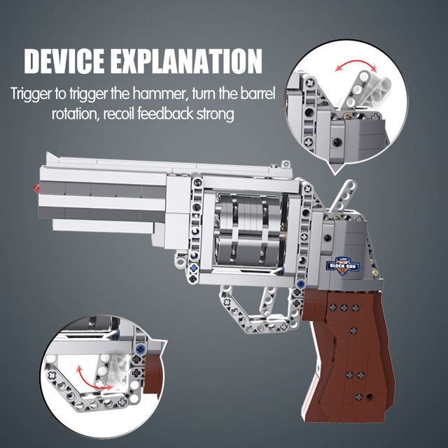 City SWAT Weapon Revolver Models Building Blocks Compatible Technic City Police Military WW2 For Pistol GUN Blocks Toys for Boys