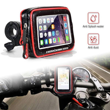 Waterproof Motorcycle Motorbike Scooter Mobile Phone Holder Bag Case for Iphone Bracket Riding