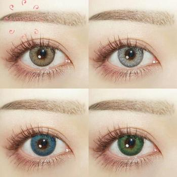 Easysmall 4 Tone Series Contact Lenses for eyes Colored Eye Lenses Color Contact lens blue Beauty Pupil Degree option 2pcs/pair easysmall colored contact lenses for eyes colored eye lenses color contact lens beautiful pupil dna four color option 2pcs pair