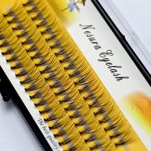 1 коробка большой емкости 60 пряди 10D наращивание ресниц 0,07 мм толщина ручной работы 3D Индивидуальные ресницы натуральный стиль