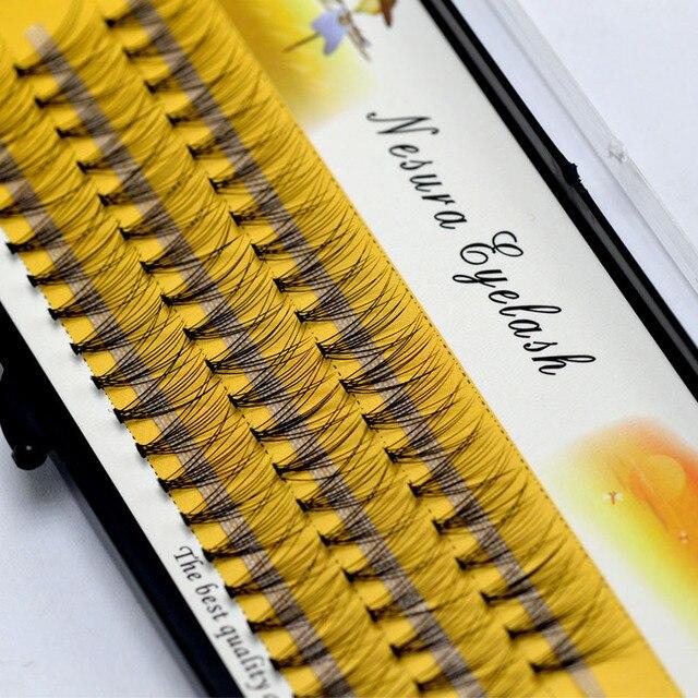 1 Box Big Capacity 60 Bundles 10D Eyelash Extensions 0.07mm Thickness Handmade 3D Individual Lashes Natural Style