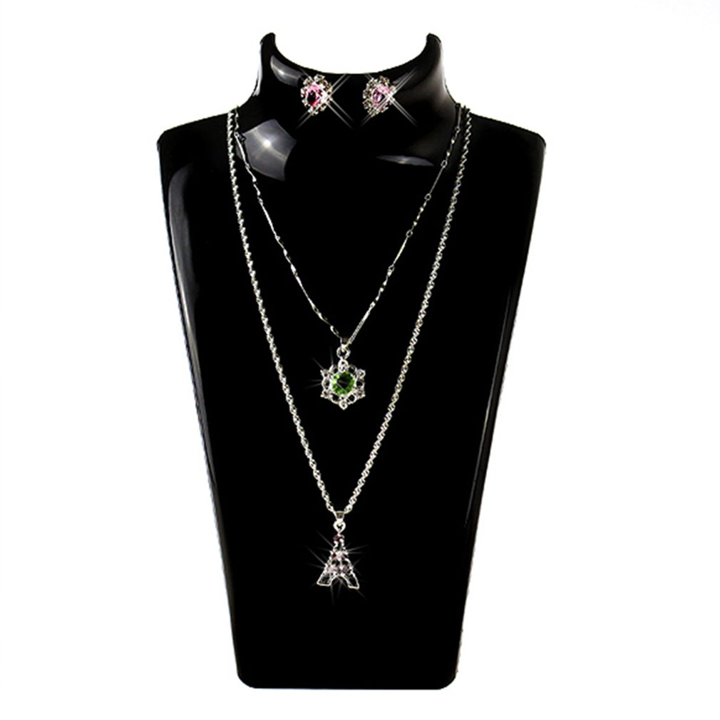 13.5*13.5*21CM Necklace Jewelry Pendant Display Stand Holder Show Decorate Jewelry Display Shelf Ear Studs Rack