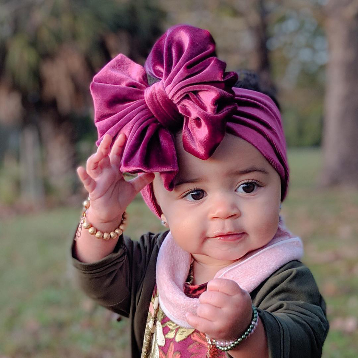 Newborn Velet Bow Children Hairband Oversized Bow Knot Baby Girls Headband Infant Kids Hair Accessory Girls Supper Wide Turban