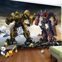3d фотообои на заказ мультфильм робот детская комната мальчики