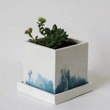 Concrete Silicone Hexagon Flowerpot Mold For Succulent Plants Round Pen Containe