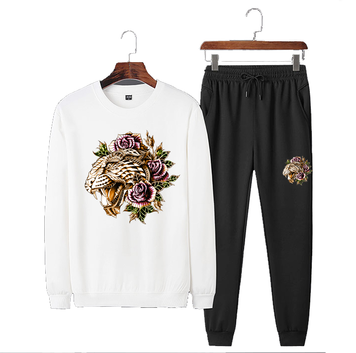 Man Casual TrackSuit Track Suit Sets Sweats Jacket Coat Pants Trousers Sport Wear Outfits Tiger Floral Print
