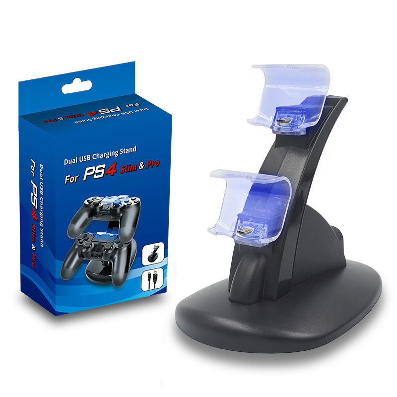 Dual Charging Stand Charging Dock Station for PS4 Controller Charger Dock Holder for Sony Playstation 4 PS4 Pro PS4 Slim Gamepad