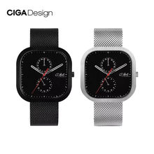 Xiaomi CIGA Design P Series Design Simple Quartz Watch Square Watch Fashion men's Watch Waterproof Multi-dial design 5 Pointer(China)
