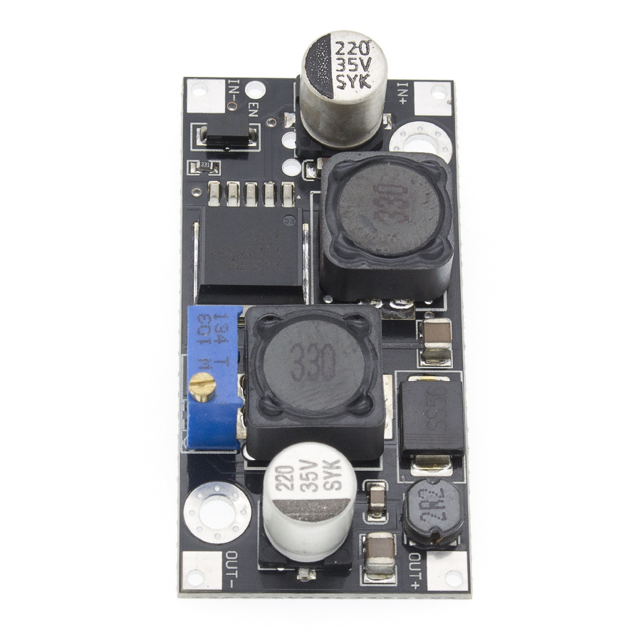 Image 2 - 10pcs XL6019 (XL6009 upgrade)) Automatic step up step down DC DC Adjustable Converter Power Supply Module 20W 5 32V to 1.3 35V-in Integrated Circuits from Electronic Components & Supplies