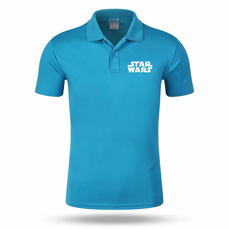 2019 High quality trend   POLO   personality STAR WARS printing LOGO anti-wrinkle breathable quick-drying cotton new   POLO   top #20
