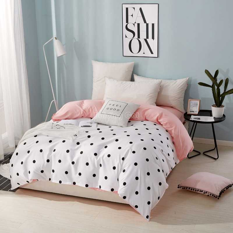 Home Textile Wave Point Duvet Cover with Zipper 1pc Plaid Stripes Quilt Cover 150*200cm,180*220cm,200*230cm,220*240cm Bedclothes