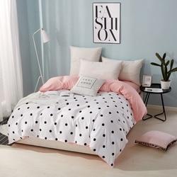 Casa têxtil onda ponto capa de edredão com zíper 1pc xadrez listras quilt cover 150*200 cm, 180*220 cm, 200*230 cm, 220*240cm roupas de cama