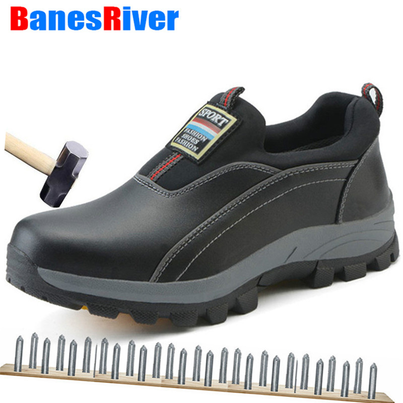Shoes, Upper, Size, Puncture-proof, Leather, Work