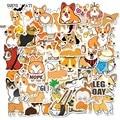 50 teile/los nette Cartoons Corgi Dekorative Schreibwaren PVC Wasserdichte Aufkleber Scrapbooking DIY Tagebuch Album pet hund Stick Label