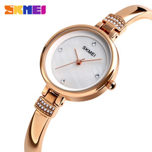 SKMEI Fashion Casual Women Watches 3Bar Waterproof New Quartz Simple Ladies Watch Alloy Strap Wristwatches 1409 high quality brand skmei new fashion casual silicone watches with japan quartz unisex wristwatches for men women gift wa3034