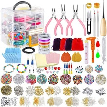Jewelry-Making-Kit Bracelet Making-Supplies-Tool Complete for with Sturdy-Case Great-Gift