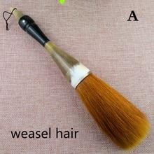 Chinese Calligraphy Brush Oxhorn Penholder Brush Pen Extra Large Bear Weasel Hair Paint Brushes Art Stationary Supplies