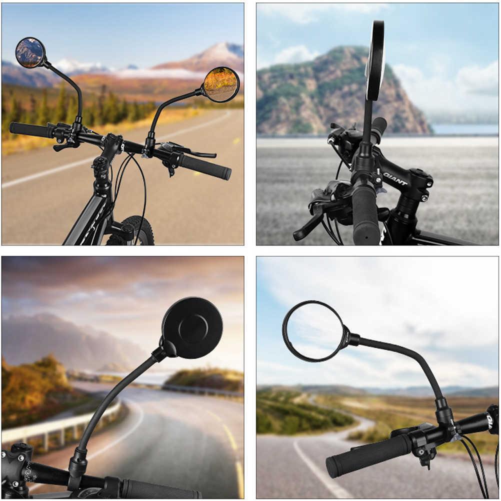 จักรยานกระจกมองหลังจักรยานคุณภาพสูงจักรยานด้านหลังที่มีความยืดหยุ่นกระจกมองหลังกระจกสีดำ MTB จักรยานกระจกมองหลัง