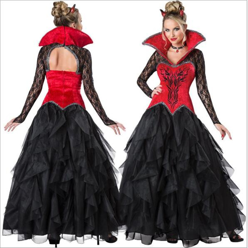<font><b>Halloween</b></font> Costume <font><b>Sexy</b></font> Vampire Costume <font><b>Women</b></font> Masquerade Party Cosplay Gothic <font><b>Halloween</b></font> <font><b>Dress</b></font> Vampire Role Play Clothing Witch image