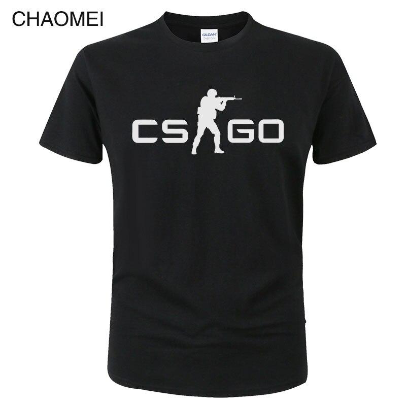 Game CS GO T Shirt Men 2019 Summer Csgo T-shirt High Quality Male Top Tees Brand Clothing Hip Hop Tops Homme Tshirt C105