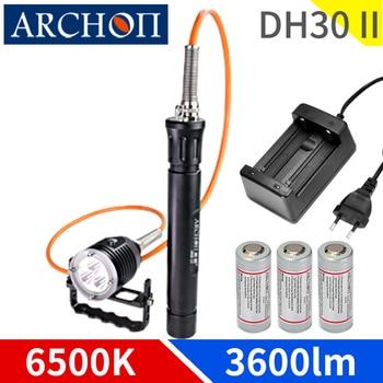 Профессиональный прожектор DH30II для дайвинга, 6500k, макс. 500 мин, подводная лампа для дайвинга, 100 м, лампа для видеосъемки