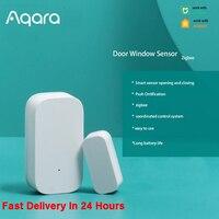 Aqara-Minisensor inalámbrico para puerta y ventana Zigbee, dispositivo pequeño de detención de movimiento con conexión inalámbrica funciona con la aplicación Mi Home para Xiaomi mijia Smart home, modelo Zigbee