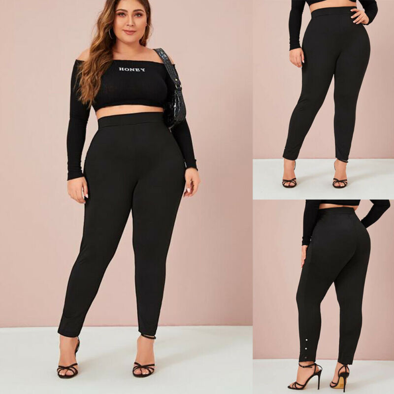 Women Stretch High Waisted Leggings Bandage High Waist Long Workout Pant Fitness Stretch Leggings Trousers Pant Plus Size XL-4XL