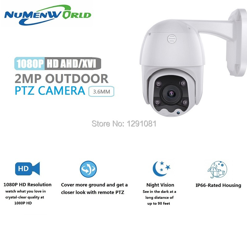 HD1080p PTZ Outdoor Indoor Security Camera Surveillance CCTV Dome ABS Camera With 65ft Night Vision For AHD, XVI,TVI,CVI And DVR