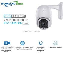 HD1080p PTZ na świeżym powietrzu kryty aparat bezpieczeństwa kamery monitoringu CCTV kopuła ABS kamera z 65ft Night Vision dla AHD  XVI  TVI  CVI i DVR w Kamery nadzoru od Bezpieczeństwo i ochrona na