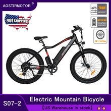 AOSTIRMOTOR Electric Mountain Bike Fat Tire Electric Bicycle City Cruiser Bike 750W Ebike 48V 10.4Ah Lithium Battery US Shipping
