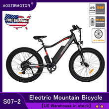AOSTIRMOTOR Electrical Mountain Bike Fats Tire Electrical Cruiser Booster Bicycle 750W EBike 48V 13Ah Lithium Battery US Inventory