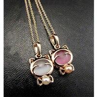 SexeMara bijoux fantaisie chat chanceux bohème déclaration collier œil de chat pierre pendentif collier femme élégant collier
