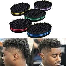Hot Sale Oval Double Sides Magic Hair Twist Sponge Curl Brush Professional Salon Dreads Locking Afro Curl Wave Tool 3 Colors все цены