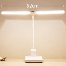 Atualizar 4000mah dupla lâmpada de mesa led, 60 pces led contas de lâmpada, lâmpada shadowless, lâmpada de mesa de brilho ajustável
