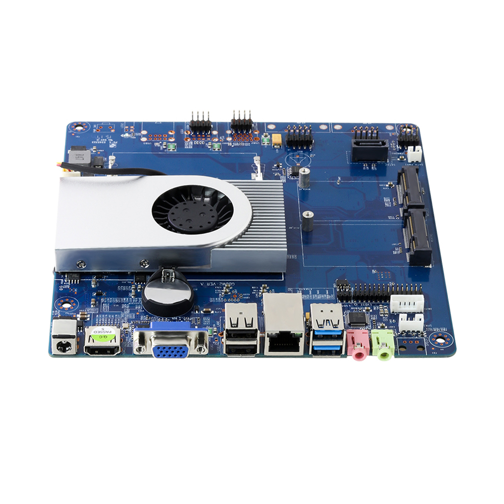 Motherboard Desktop Mini ITX <font><b>Intel</b></font> <font><b>Core</b></font> <font><b>i3</b></font> <font><b>4010U</b></font> built-in Processor DDR3L mSATA SATA HDMI VGA Mini PCIe Wifi 6*USB Mainboard image