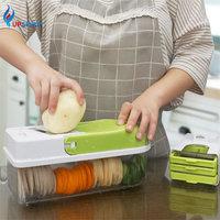 Upspirit 8in1 Fruit Vegetable Cutter Potato Carrot Slicer Grater Masher Garlic Grinder Mincer Strainer Salad Maker Kitchen Tools